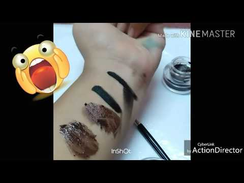 music flower long lasting 24 hours gel eyeliner review and swatches...... worst eyeliner