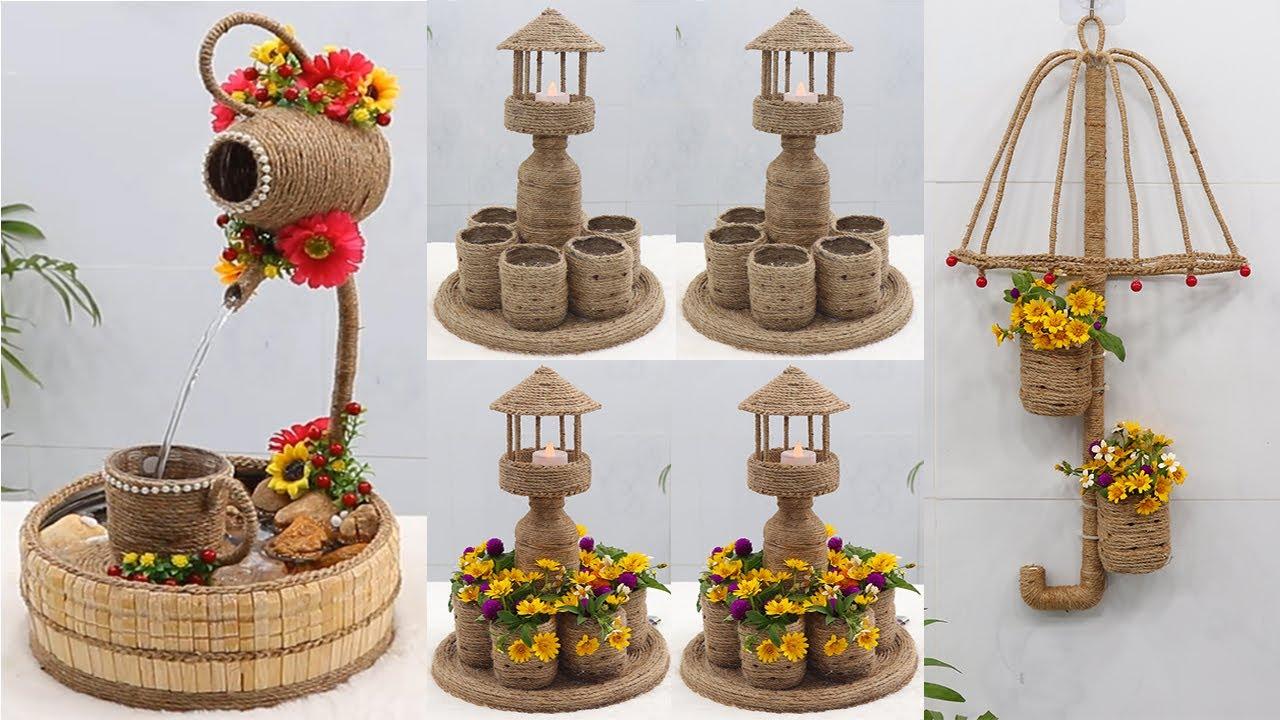 Amazing Decor Showpiece Craft Ideas from Waste Material, Jute Craft