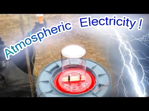 Free Atmospheric Electricity Powers Small Motor - Tesla Radiant Energy