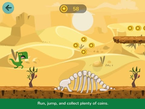 Dinos Jump Part 3: Halloween! - Dinosaur action game for kids - iPad app demo for kids - Ellie