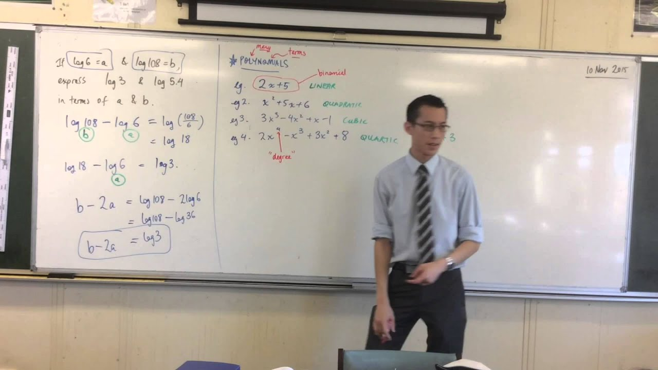 Download Polynomials (1 of 3: Introduction to Polynomials)