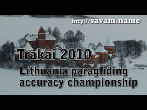 Trakai Lithuania open paragliding accuracy landing championship 2010