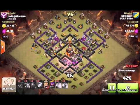 Clash of Clans: Quatro Lavaloonion Th9 v TH10 (2 Star Clan War Attack)