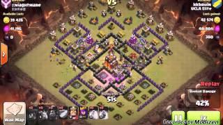 Clash of Clans: Quatro Lavaloonion Th9 v TH10 (2 Star Clan War Attack)