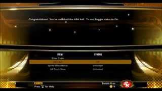 NBA 2K13 Cheats Unlocks ABA Ball - Torch Shoes- & 3+ Dribbling Moves for My Player