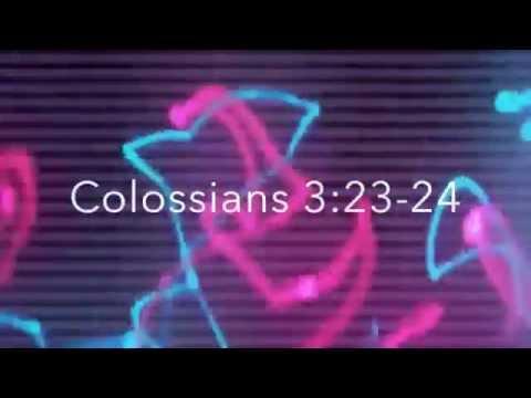 Colossians 3:2324 A Bible Memory Verse Sg for Children