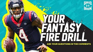 "NFL Week 7 Fantasy Football Advice | ""Your Fantasy Fire Drill"""