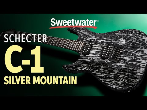 Schecter C-1 Silver Mountain Electric Guitar Demo
