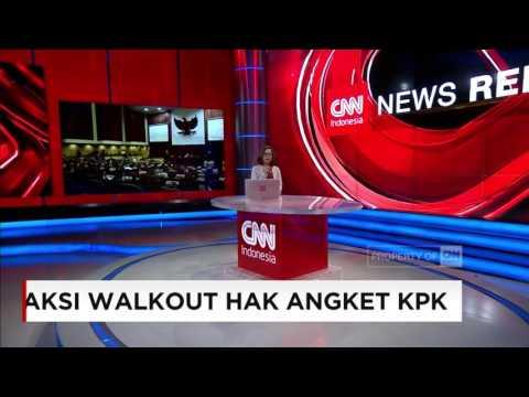 Aksi Walkout Anggota DPR Menolak Hak Angket KPK
