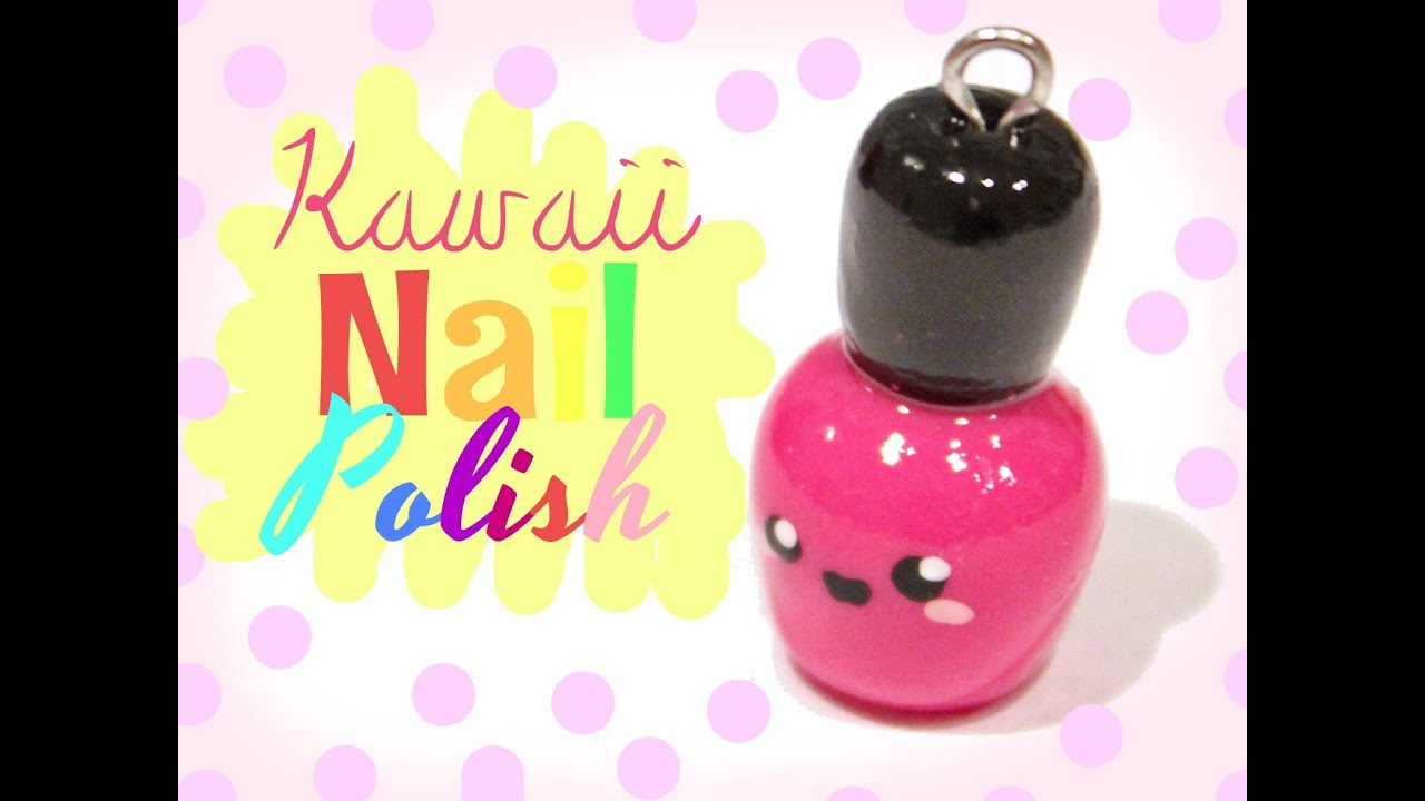 Nailpolish Kawaii Friday 56 Tutorial In Polymer Clay Youtube