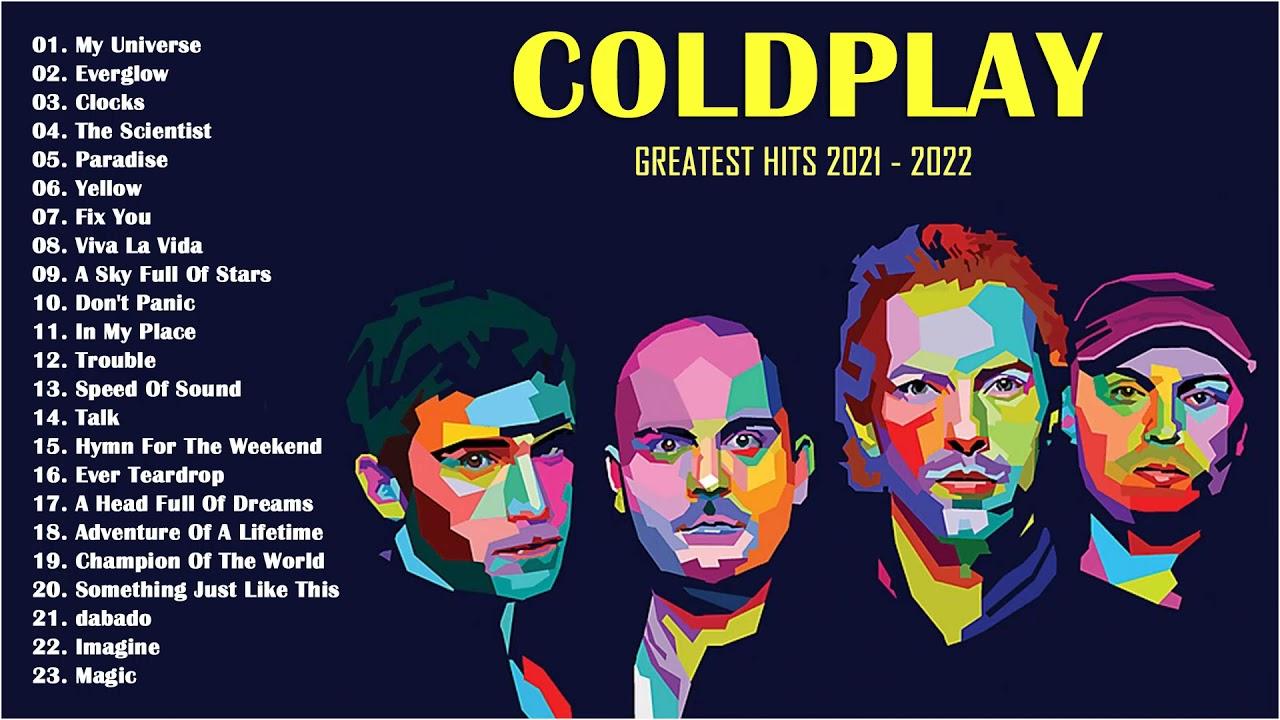Melhor coleção de músicas do Coldplay - últimas músicas do Coldplay 2021