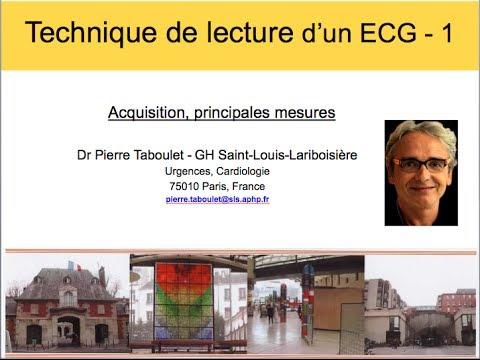 2a. Technique de lecture d'un ECG (1). Acquisition et principales mesures. Dr P. Taboulet (France)