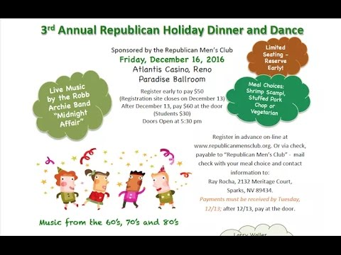 Republican Christmas Party 2016 Join Us