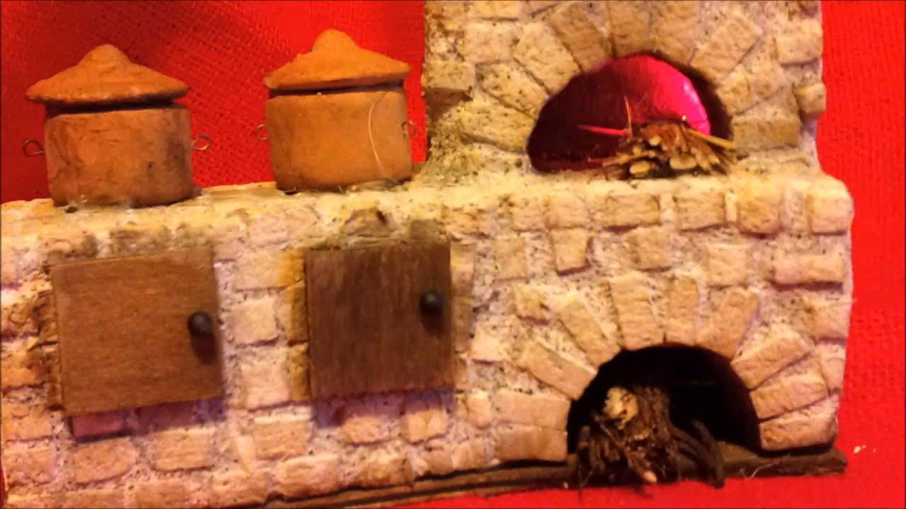 accessori presepe cucina in miniatura - YouTube