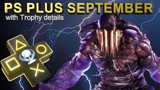 PS Plus September Free Games with Platinum Difficulty & Platinum Time [PS4- PS3 - PS Vita] 2018
