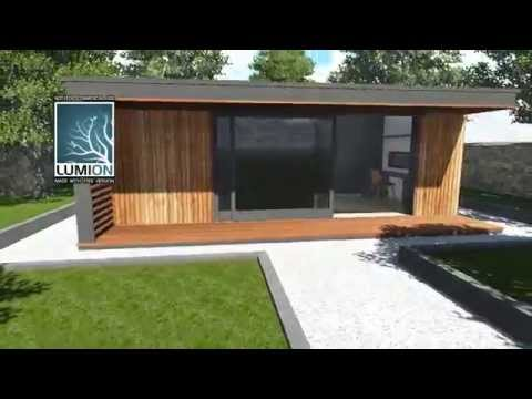 sketchup 8 drawing of home office garden room sip building in the t