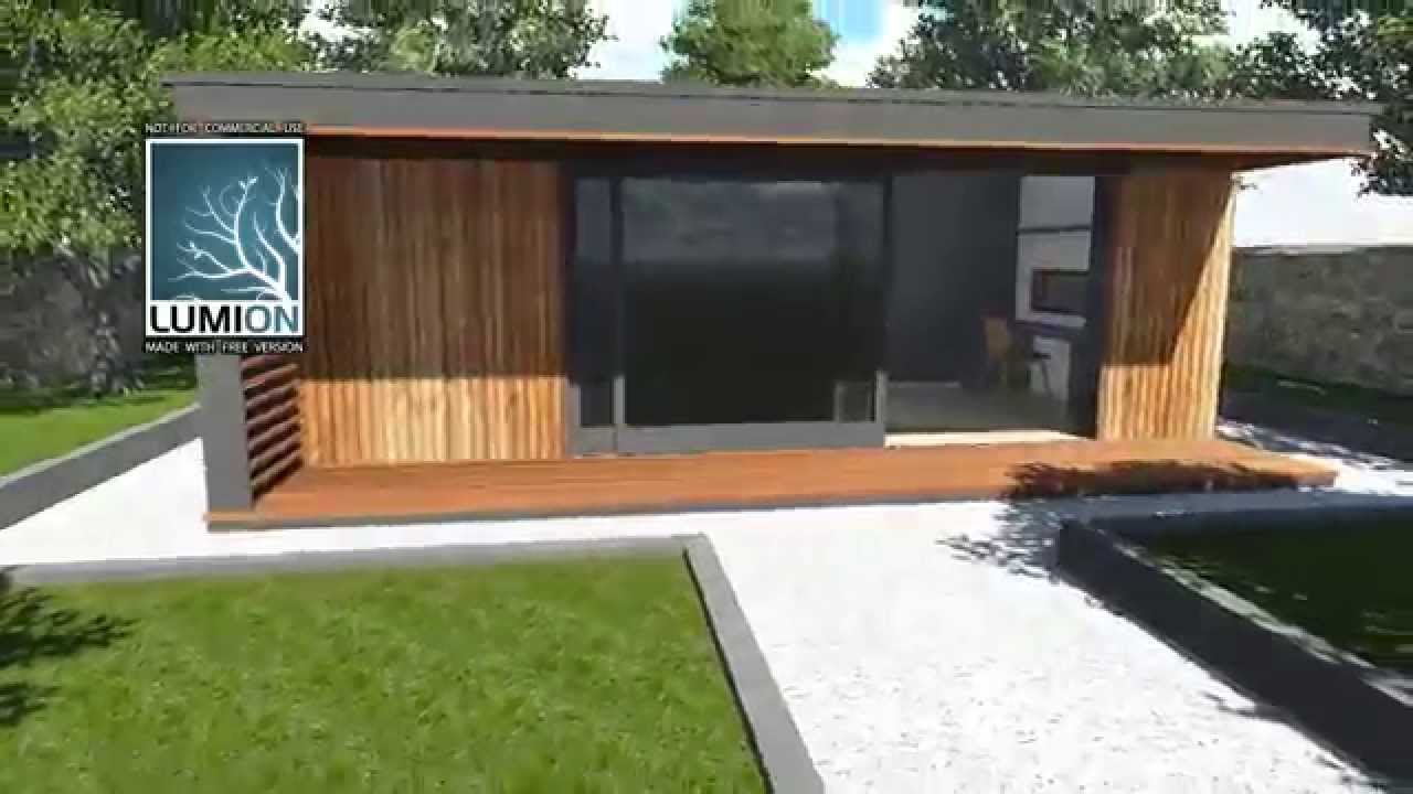 Sketchup 8 drawing of home office garden room sip building for Garden house office