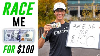 Beat Me in a Race WIN $100!! (ft. Olympian Nick Symmonds)