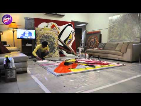 Action Painting with Artist Ali Abdallah