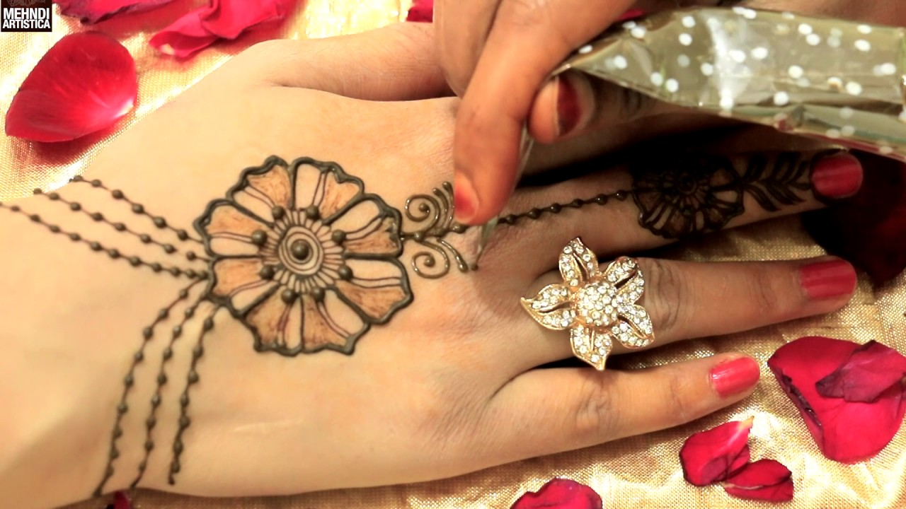 Mehndi design 2017 ki - Dulhan Design Haathphool Mehndi 2017 Easy Simple Beautiful Trendy Haatho Ki Mehendi