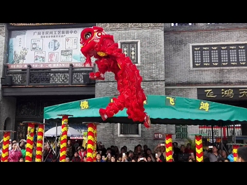 Amazing lion dance in south China