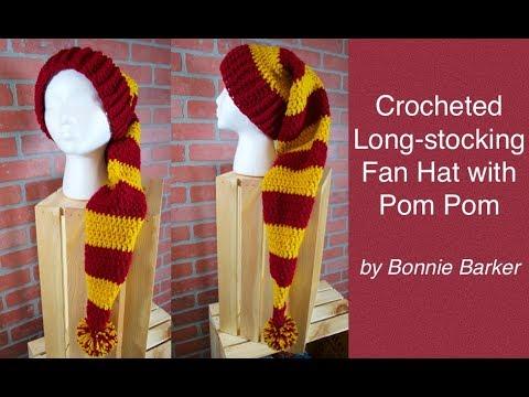 How to Make a Longstocking Fan Hat with a Pom Pom, by Bonnie Barker