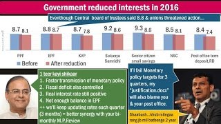 BES161/P8: MCLR Vs. Base Rate, Small Savings Schemes hindering Monetary Policy?