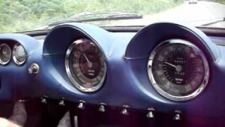 Inside Chris Evans 1964 Ferrari 250 Lusso following 1971 Ferrari Dino