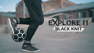 Explore ii black knit - freestyle and street football shoes - promo