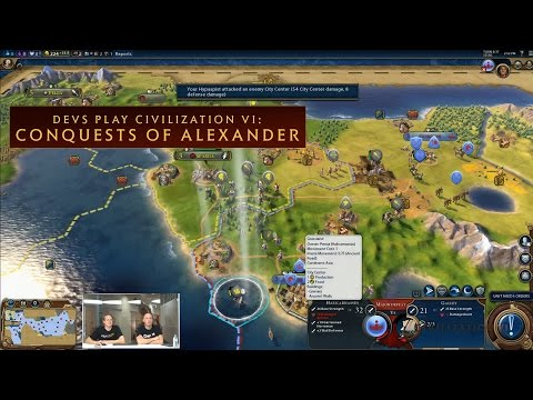 CIVILIZATION VI - Devs Play Conquests of Alexander (New Macedon Scenario)