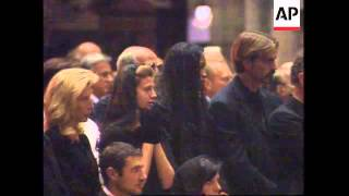 ITALY: MILAN: MEMORIAL SERVICE TO GIANNI VERSACE