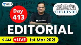 The Hindu Editorial Analysis for UPSC CSE/IAS Exam by Ashirwad Sir | 1st Mar 2021 | The Hindu Today
