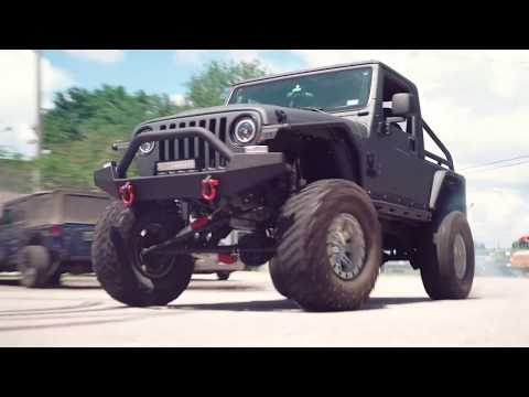 Donuts Burnouts In A Bruiser Conversions LS Swapped TJ Jeep Wrangler