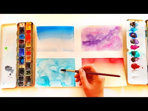 Easy Watercolor Background Techniques Ideas For Lettering - Painting For Beginners