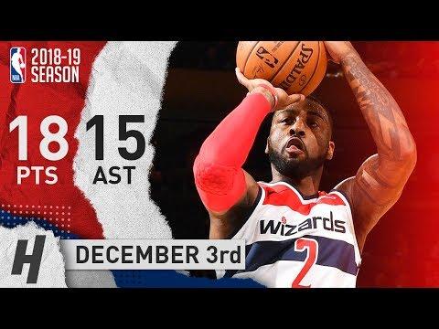 John Wall Full Highlights Wizards vs Knicks 2018.12.03 - 18 Pts, 15 Ast!