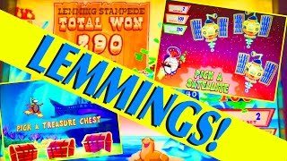 LUCKY LEMMINGS!! I GO INSANE!!  3 BONUSES!! FUN SLOT (MAX BET!) Slot Machine Bonus Win Videos(LUCKY LEMMINGS!! I GO INSANE!! 3 BONUSES!! FUN SLOT (MAX BET!) Slot Machine Bonus Win Videos. A FUN slot, but I slowly go insane -- you'll see why!, 2016-12-27T19:30:00.000Z)