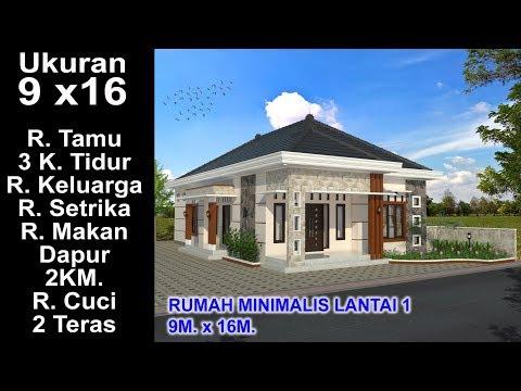 Desain Rumah Minimalis Ukuran 7x14  modern house 7 05 x 10 leter l 3 k tidur desain rumah