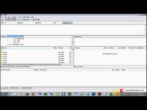 How to use filezilla ftp client for uploading files on your server