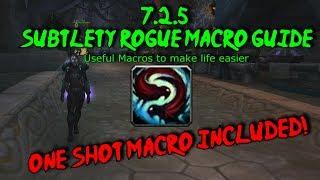 [Evasionx] Subtlety Rogue Macro Guide + One Shot Macro! (Check Description)