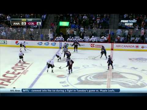 Ryan Getzlaf vs Steve Downie fight Anaheim Ducks vs Colorado Avalanche 10/2/13 NHL Hockey