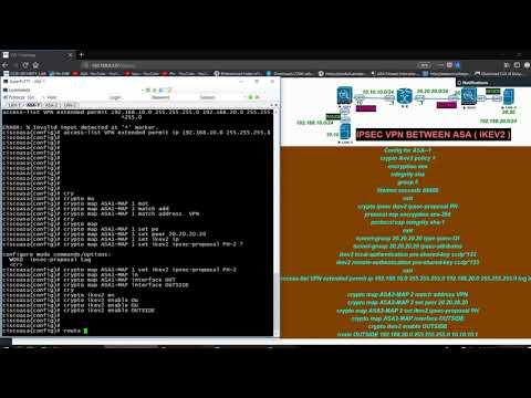 HOW TO CONFIGURE IKEV2 IPSEC VPN BETWEEN ASA FIREWALL