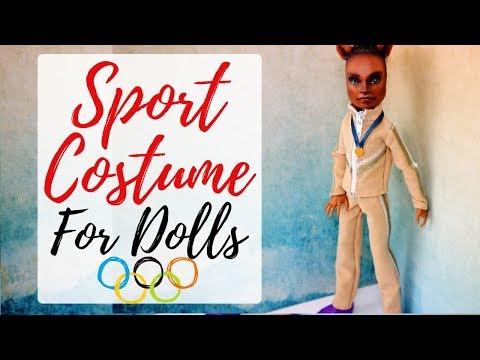 How To Make Sport Costume For Monster High Dolls / Handmade Tutorial for Toys