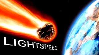 क्या होगा अगर पृथ्वी पर प्रकाश की गति से एक उल्का पिंड टकराये? A Meteor Hits Earth At Light Speed