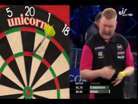 Ricky Evans HURTING himself doing a 180 - 2018 PDC UK Open
