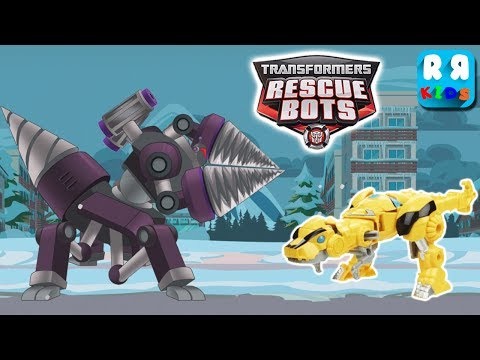 Transformers Rescue Bots: Disaster Dash - Dr. Morocco Morbot Vs Bumblebee Dinobots