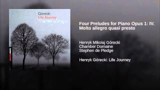 Four Preludes for Piano Opus 1: IV. Molto allegro quasi presto