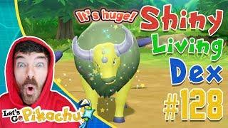 SHINY TAUROS CAUGHT AFTER 3 DAYS! Pokemon Let's Go Pikachu Shiny Living Dex #128