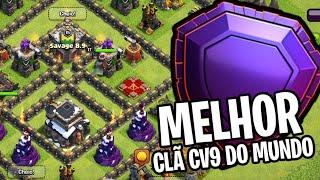 ATAQUES INSANOS DO MELHOR CLÃ CV9 DO MUNDO! CLASH OF CLANS