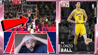 I THINK 2K GAVE US A PINK DIAMOND LONZO BALL BY ACCIDENT IN NBA 2K19 MYTEAM