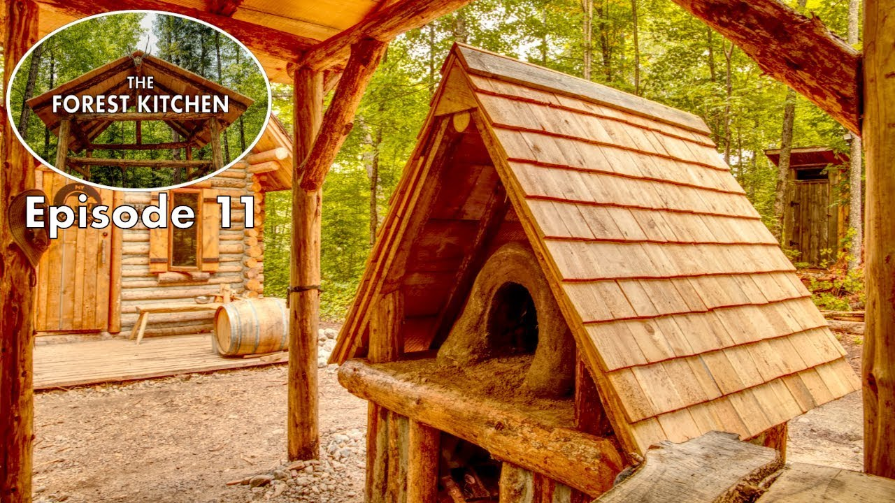Wooden Roof Shelter | The FOREST KITCHEN | Off Grid Log Cabin Build | Ep.11 S1 #1